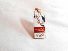 Vintage Coca Cola Ice Hockey Playing Polar Bear Enamel Olympics Advertising Pin