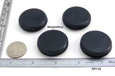 "2 Rubber Plugs -  Grommets Without Hole - Solid Grommet 1 1/8"" Diameter"