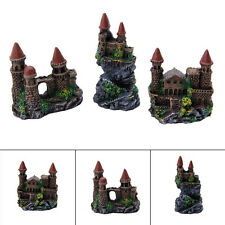 1Pc Aquarium Polyresin Tower Castle Ornament Fish Tank Decoration Accessories