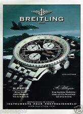 Publicité advertising 2001 La Montre Breitling Old Navitimer