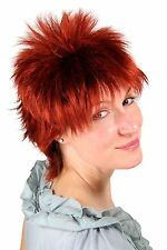 Women's Wig red short naughty 80's Years Mullet Style NDW 26155-131 25cm NEW