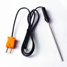 Temperature Controller K Type Thermocouple Probe Sensors 100cm Wire Cable 1M HJK