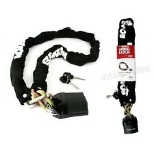 90cm Heavy Duty Motorbike/Motorcycle Chain & Padlock Bicycle/Bike/Moped/Scooter