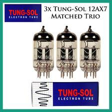 New 3x Tung-Sol 12AX7 / ECC83 | Matched Trio / Set / Three Tubes | Reissue
