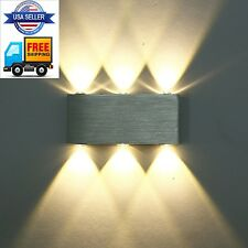Modern Warm White 18W High Power 6 LED Up Down Wall Lamp Spot Light Sconce