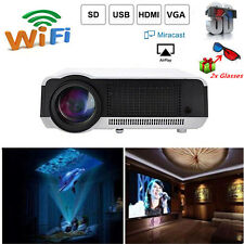 5000Lumens Full HD 1080P LED LCD Wifi 3D Smart Home Video Theater Projector HDMI