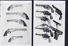 Smith & Wesson - Volcanic Repeating Pistols-Revolvers- 1947 Gun Collector Prints