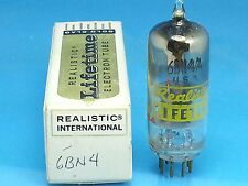 REALISTIC 6BN4 VACUUM TUBE SINGLE 1 PCS ABSOLUTELY NOS NIB Valvola Röhre Valve