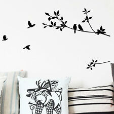 Removable kid Tree Bird Quote Wall Sticker Decal Mural DIY Room Art Home Decor F