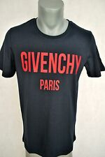Bnt Paris Shirt T Givenchy Size S Black Men Cotton All Red Logo MADE IN Portugal