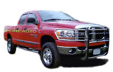 2006-2008 Dodge RAM 1500 / 2500 / 3500 - STAINLESS STEEL GRILL GUARD BRUSH GUARD