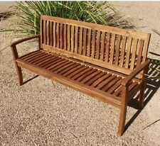OUTDOOR ACACIA HARDWOOD KIDS BENCH 3 SEATER GARDEN PATIO CHAIR SEAT NATURAL