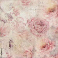 Ricepaper/Decoupage paper,Scrapbooking Sheets Pink Shabby Roses