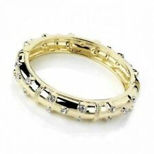 Debenhams Gold Plt Hinged Bracelet Statement Bangle Studded W/ Swarovski Crystal