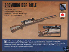 BROWNING BBR RIFLE Japan Bolt-Action Gun Atlas Classic Firearms PHOTO CARD