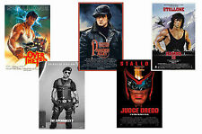 SYLVESTER STALLONE - SET OF 5 - A4 FILM POSTER PRINTS # 2