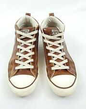 Converse Men's Brown Leather Hi-Top Chuck Taylor Sneakers Size 11