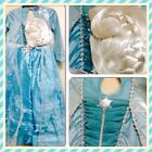 Disney Frozen Queen Elsa fancy dress up BNWT 3-12yrs Princess Costume and Wig TU