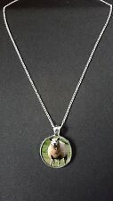 """Sheep Pendant On 18"""" Silver Plated Fine Metal Chain Necklace Gift N524"""