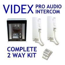 Videx Sistema De Interfono Bajas Apartamentos 2 Vías 8000 Serie Superficie Audio
