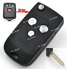 Flip Folding Remote Key Case 3 Buttons Upgrade Shell For Ford Escape Mercury Fob
