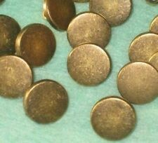 Set 16 New Vintage Antiqued BRASS Metal small Buttons with shank 1/2""