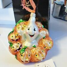 "Christopher Radko Rare GIGGLES AND BOO 4.5"" Halloween MINT ORNAMENT  00-123-0"