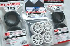 TAMIYA 1/10 RC CAR TIRE(53254)+WHEEL(51237) SET for M-Chassis Super GRIP RADIAL