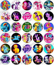 30 x My Little Pony Party Collection Edible Rice Wafer Paper Cupcake Toppers