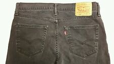 Levis Mens 508 Black Regular Fit Tapered Leg Jeans 34 x 34 Stretch