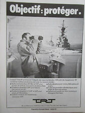 10/80 PUB TRT RADIOCOMMUNICATIONS EMETTEUR RECEPTEUR MARINE NATIONALE FRENCH AD