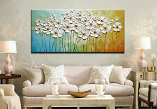 Hand-Draw Modern Wall Decor Art Abstract Oil Painting Canvas,Flower(No Frame)