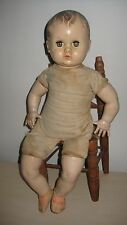 "Vintage/Antique 30's AMERICAN CHARACTER 17"" Hard Plastic Cloth Body Baby Doll!"