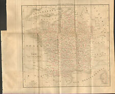 CARTE DUFOUR ROYAUME DE FRANCE EN 1828 ASIA FRENCH KINGDOM OLD MAP 1830