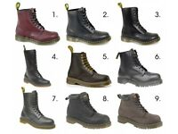 Dr Martens Mens Womens Ladies Leather Welted Airwair Safety/Casual Lace Up Boots