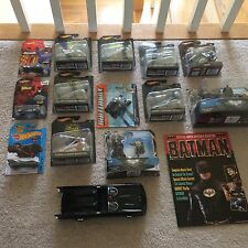 Hot Wheels Batmobile lot ,1989 Movie Magazine and Mni Figure set