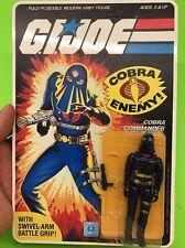 gi joe cobra commander 1984 Hooded Mail Away Mint C9+ Perfect Lot 2