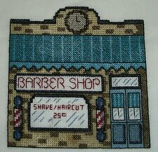 4 Finished cross stitch pieces Victorian Village #2