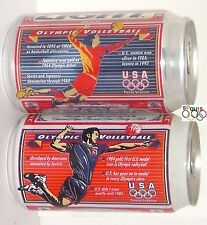 1996 OLYMPICS TEAM USA VOLLEYBALL GOLD MEDAL BUDWEISER+BUD LIGHT BEER CANS SPORT