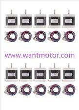 【No Tax】10PCS 42BYGHW609L20P1-X2,Nema17,1.7A,4000g.cm,Stepper Motor 3d printer