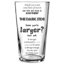 Personalised Engraved Beer Pint Glass Gift for Best Man 18th Birthday Wedding