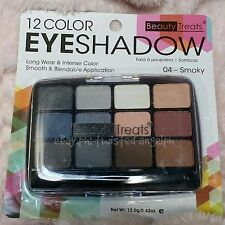 Beauty Treats 12 Color  Eyeshadow Palette [SHADE: 04 - SMOKY]