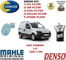 FOR FIAT FIORINO 1.4 2007-- ON OIL AIR FUEL POLLEN FILTER + SPARK PLUGS SERVICE