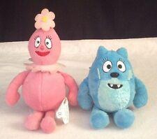 """YO GABBA GABBA Retired 2008 Spin Master 9"""" FOOFA & TOODEE Stuffed Toy PLUSH Doll"""