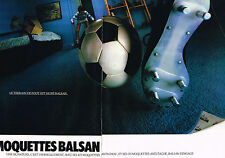 PUBLICITE ADVERTISING 044  1981  BALSAN  moquette tapis ( 2 pages)