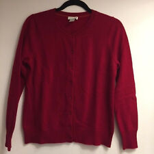 TWEEDS Red Button Front Cashmere Sweater (MEDIUM) (GOOD CONDITION)