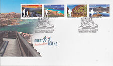 2015 Great Australian Walks (Gummed) FDC - Walkaway WA 6528 PMK