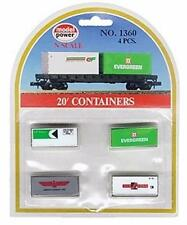 Model Power 1360 20' Containers (4) - Painted & Ready For Use - N Gauge