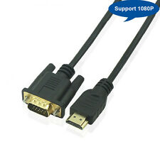 1.8M HDMI to S-VGA Male HD 15Pin Digital Video Cable TV BluRay PS3 GOLD PLATED