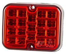 LED Anhänger Trailer Wohnwagen Nebelschlussleuchte rot 19 LEDs 12V